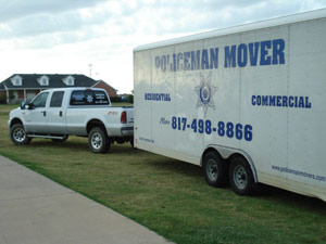 Dallas Movers, Fort Worth Movers, Southlake moving company,  Keller Movers, policeman movers